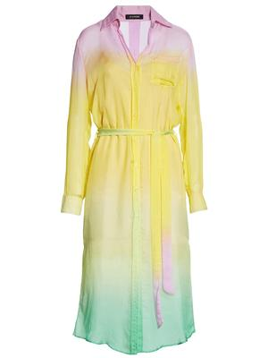 Tequila Sunrise Shirtdress