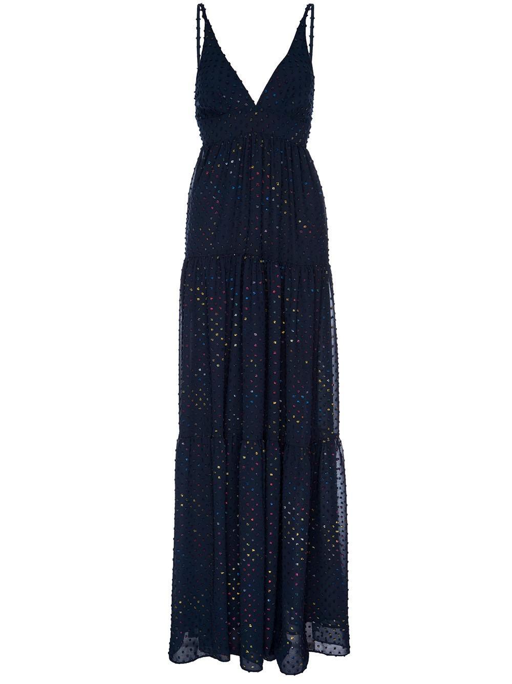 Starry Night Rainbow Maxi Dress Item # SP20-627RBW