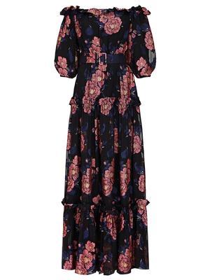 Gwendolyn Moon Flower Print Maxi Dress
