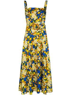 Sleeveless Cotton Poplin Long Dress