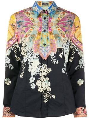 Camicia Sciancrata Multi Cotton Blouse
