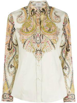Camicia Sciancrata Paisley Cotton Blouse