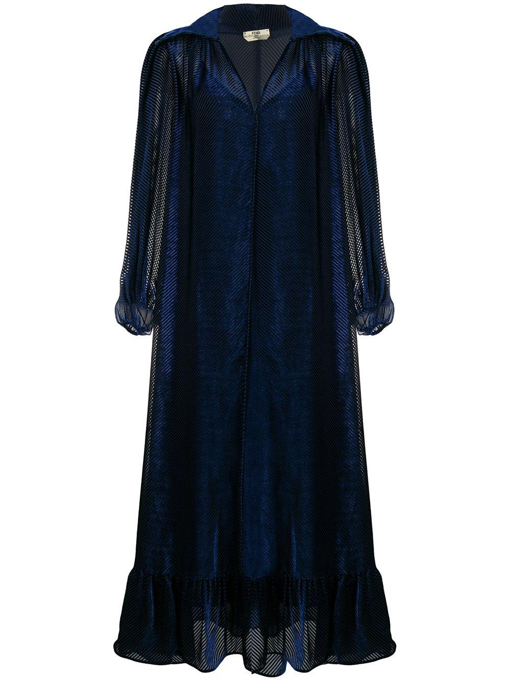 Diagonal Velvet Full Dress