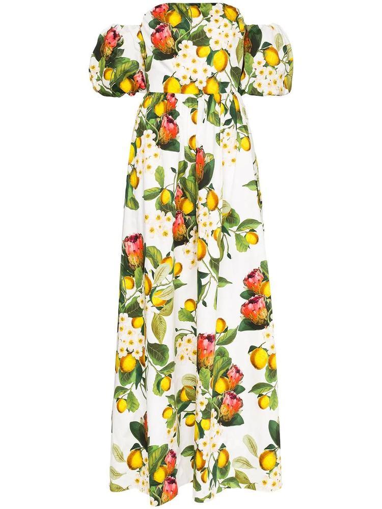 Juliet Lemon Print Maxi Dress