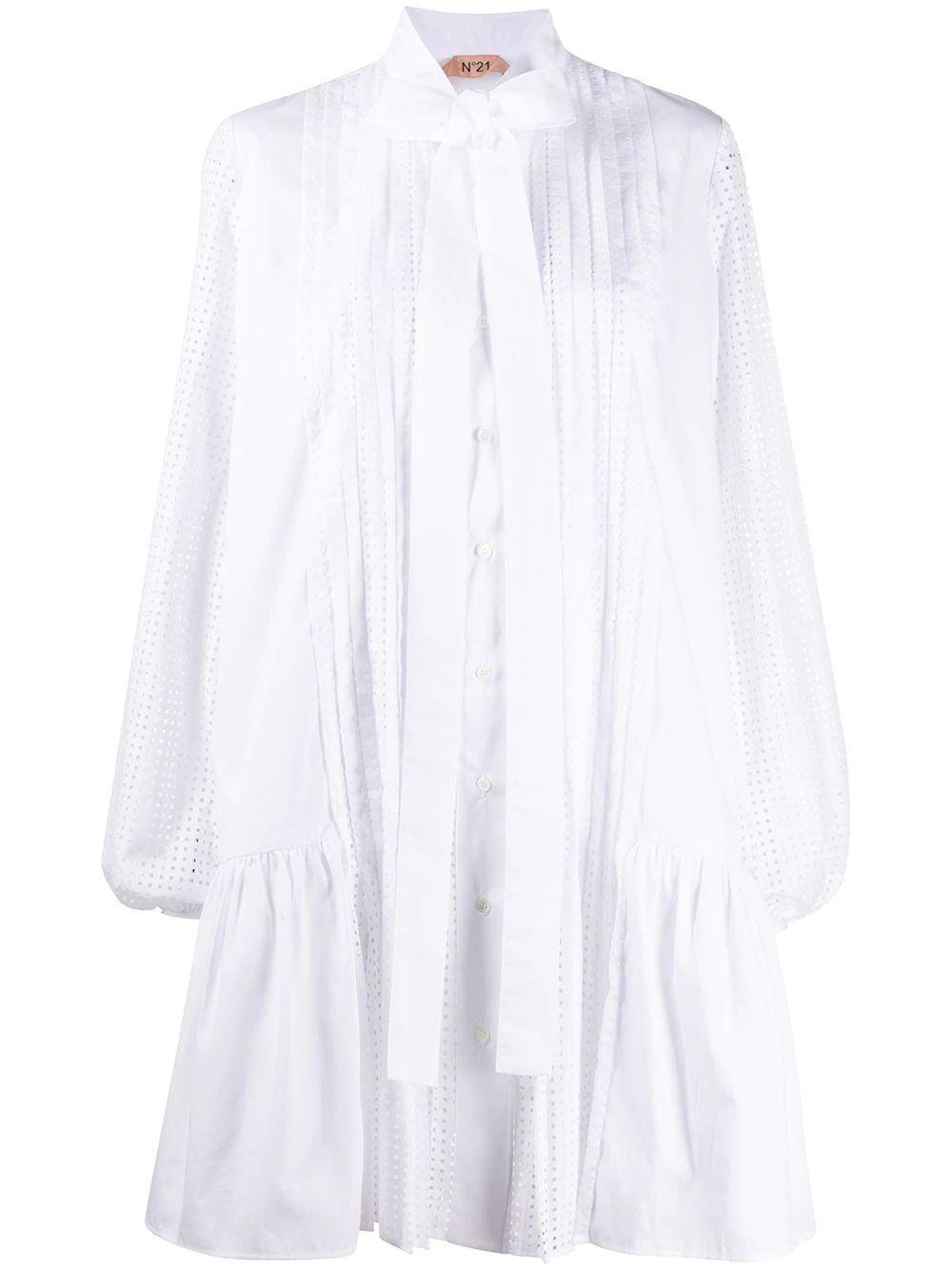 White Cotton Poplin Dress Item # H071-0605-1101