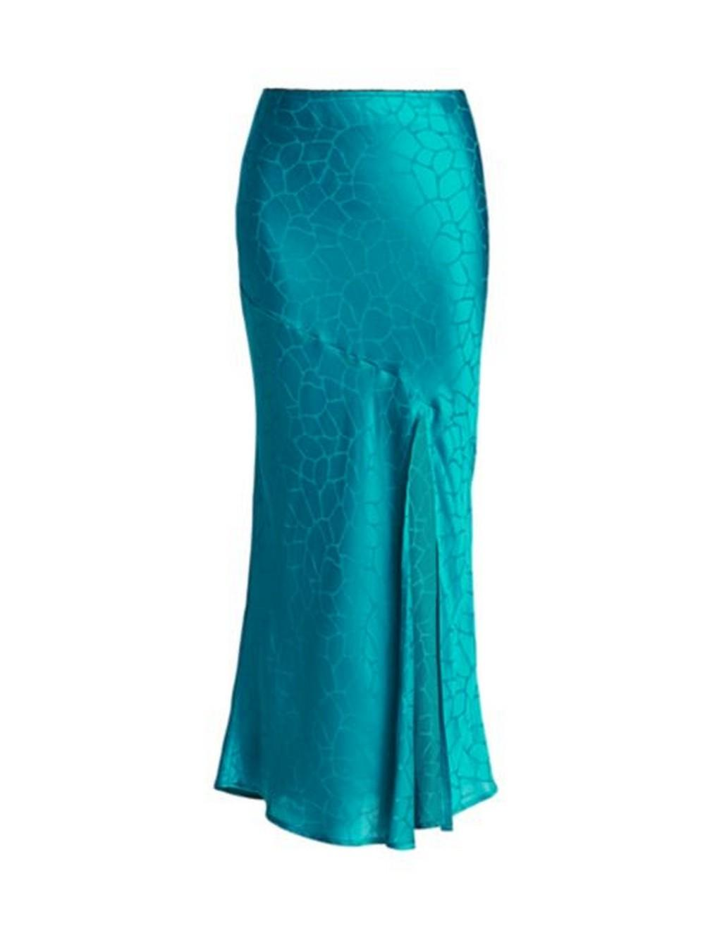 Eve Giraffe Print Midi Skirt Item # L02G549