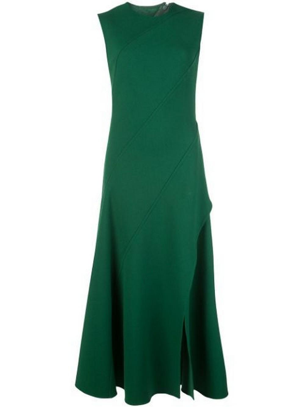 Sleeveless Day Dress With Side Slit