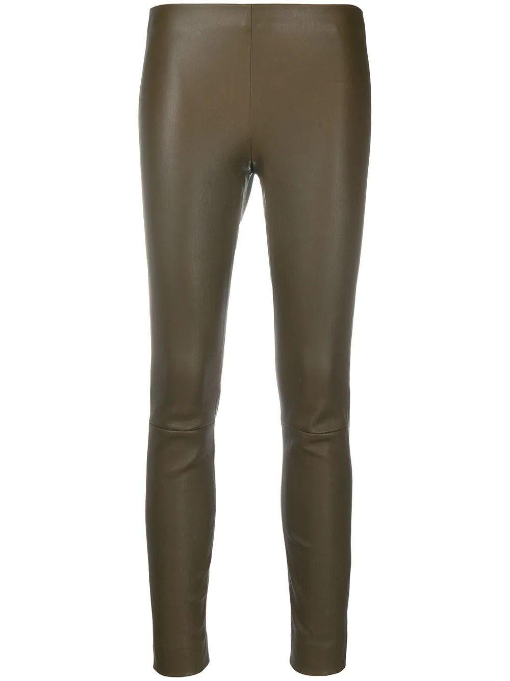 Leather Pull-on Pant