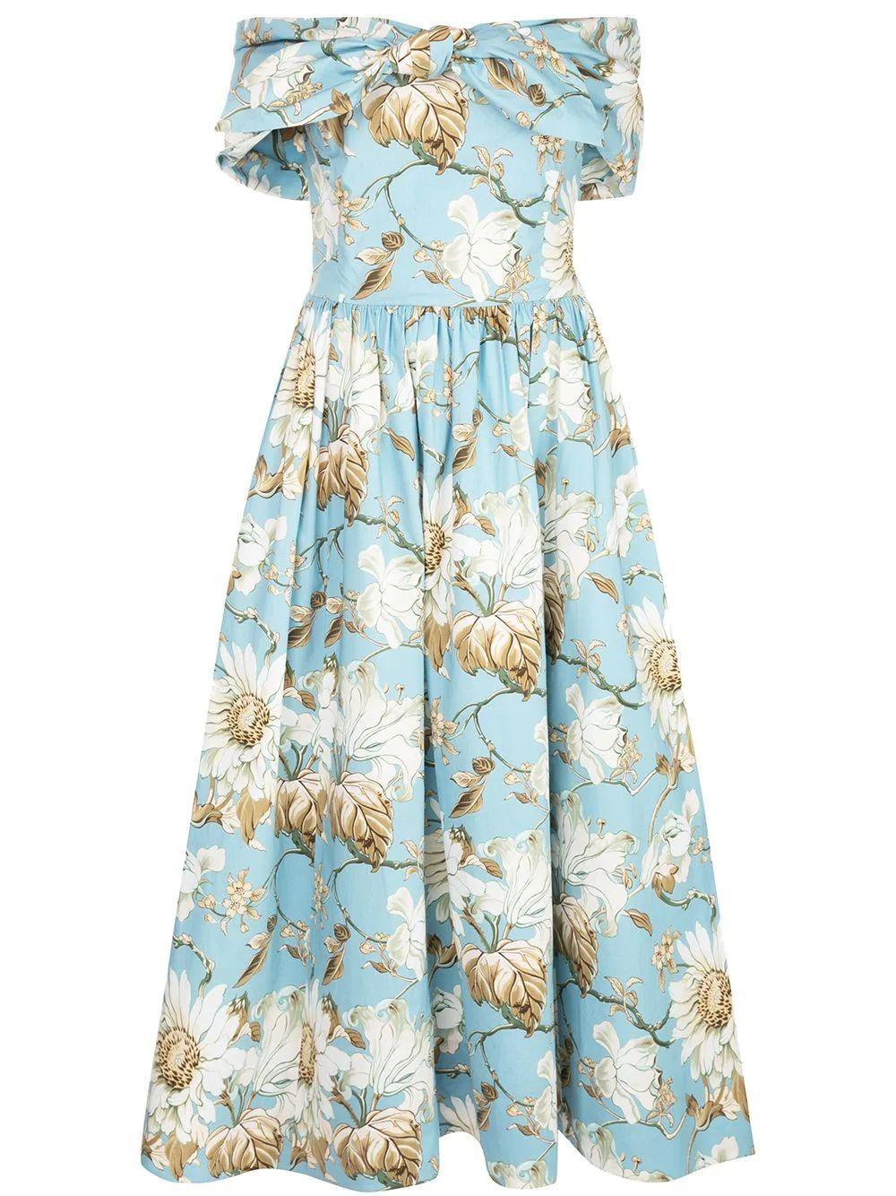 Off The Shoulder Floral Dress Item # 20PN249IDP
