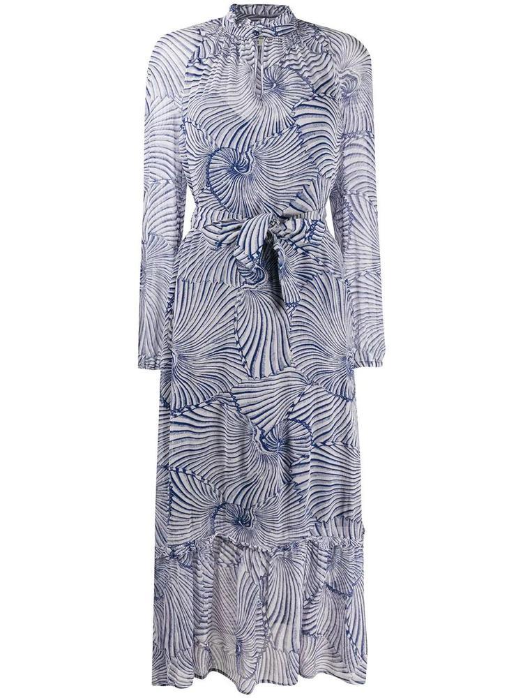 Antoinette Shell Print Midi Dress