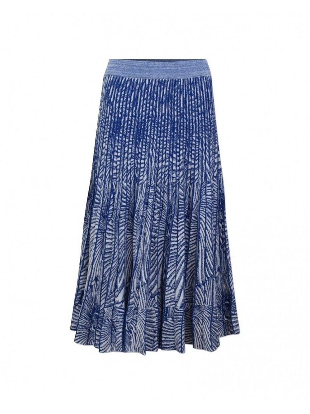 Cyrilla Shell Print Knit Midi Skirt