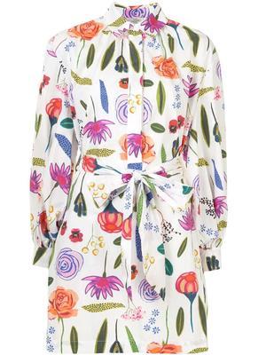Aubree Multi Flower Print Dress