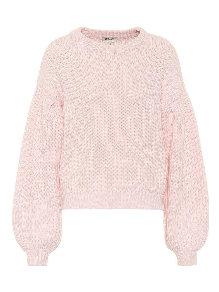 Cerra Ribbed Puff Sleeve Sweater Item # 21209