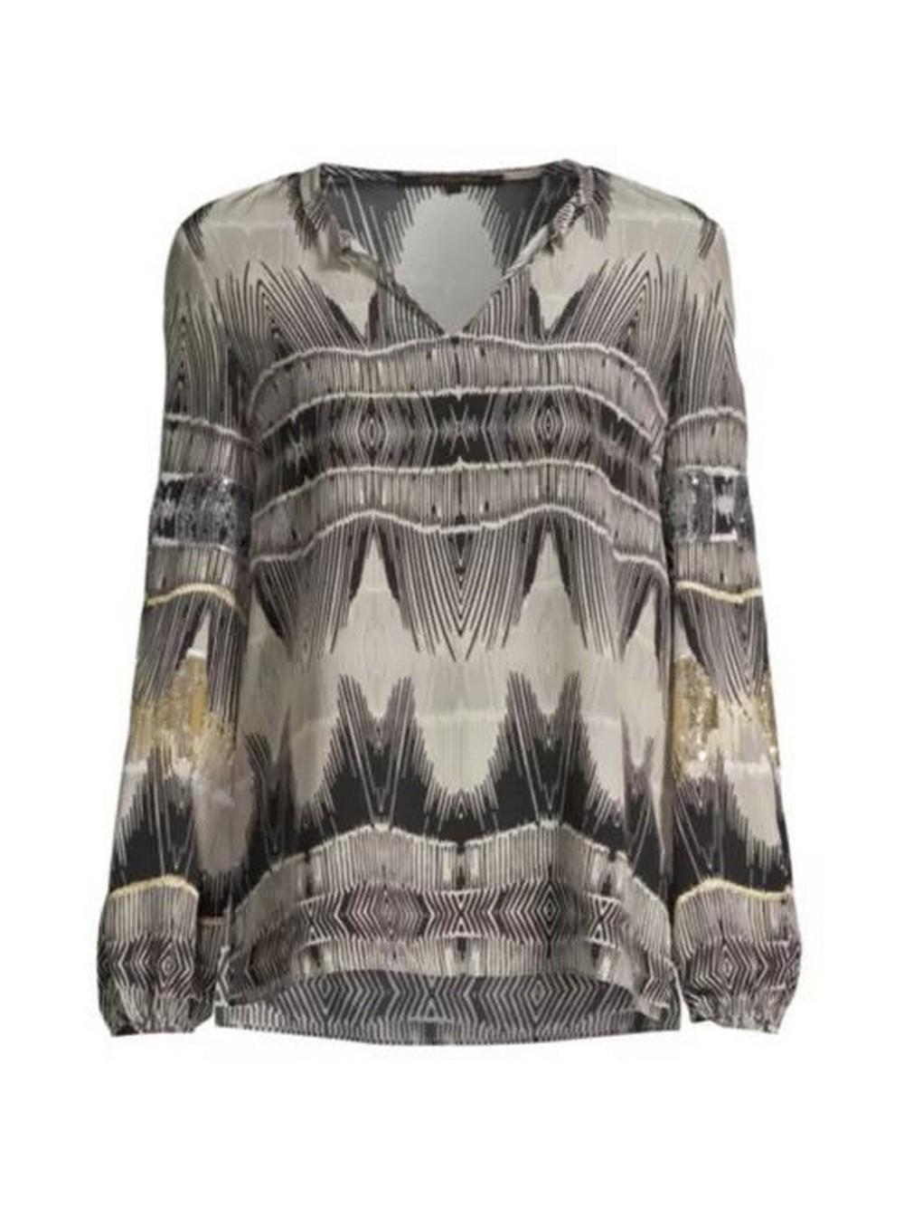 Felicia Sequin Printed Blouse