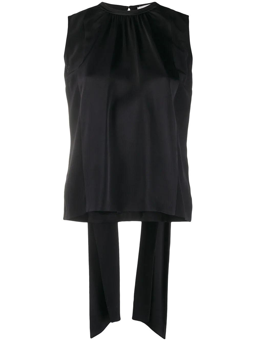 Sleeveless Tie Back Satin Top Item # 2320WTP001812A