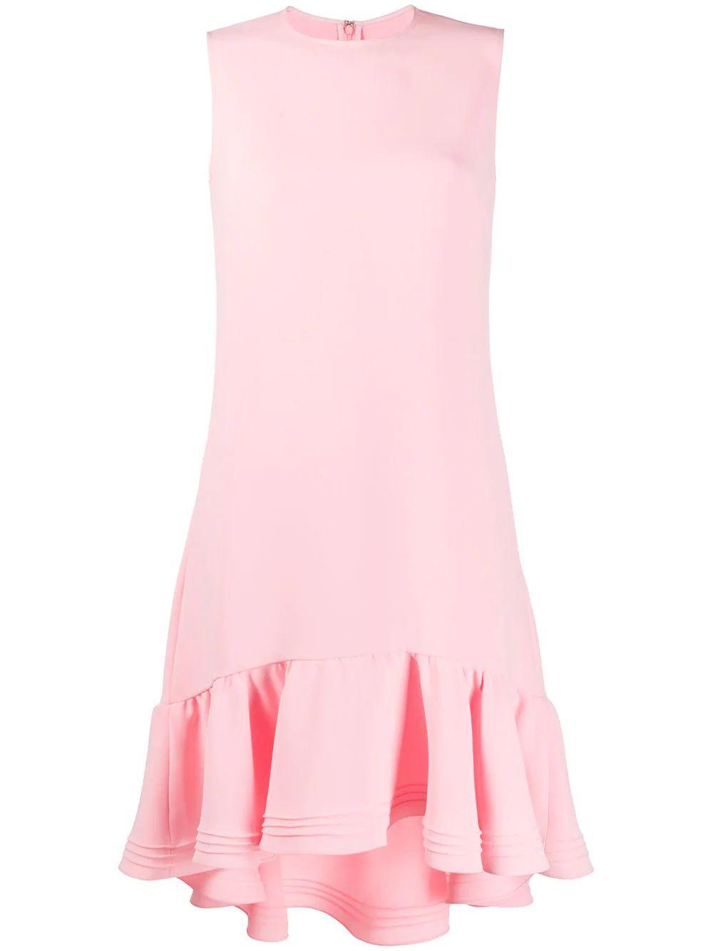 Flounce Hem Shift Dress