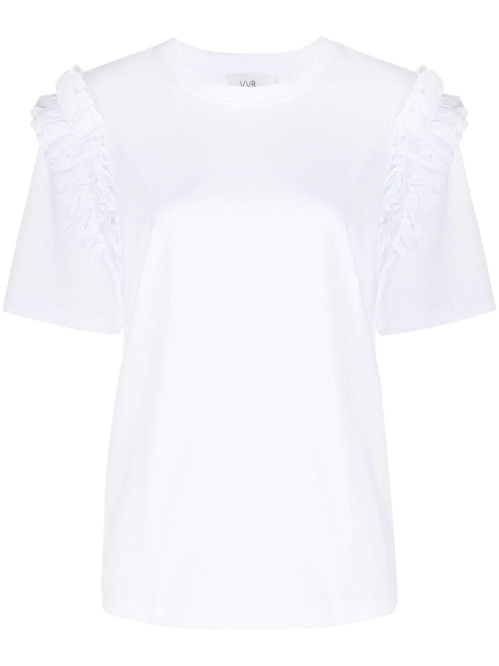 Ruffle Trim T- Shirt Item # 2320JTS001774A