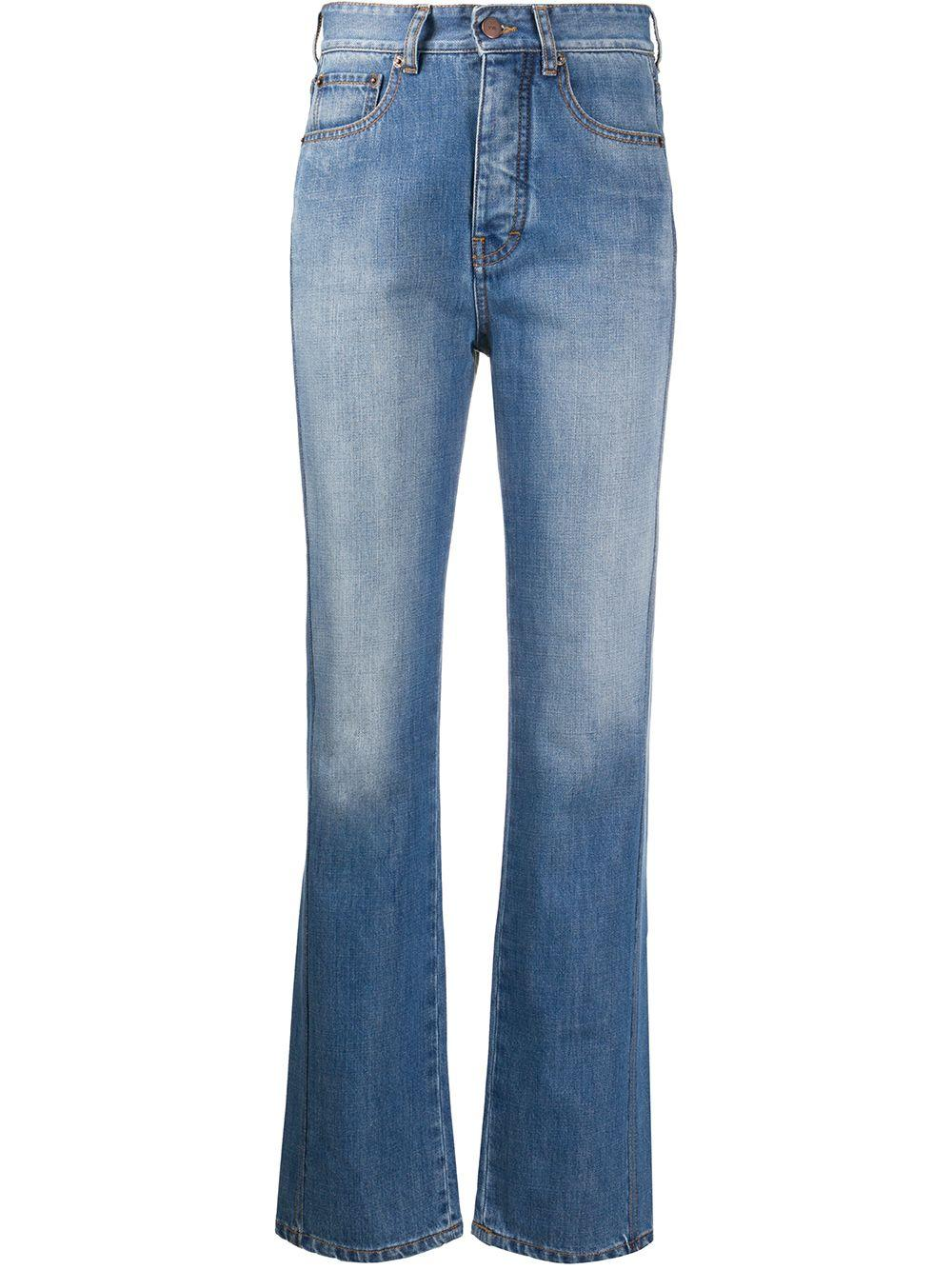 Midtown Button Fly Straight Leg Jean