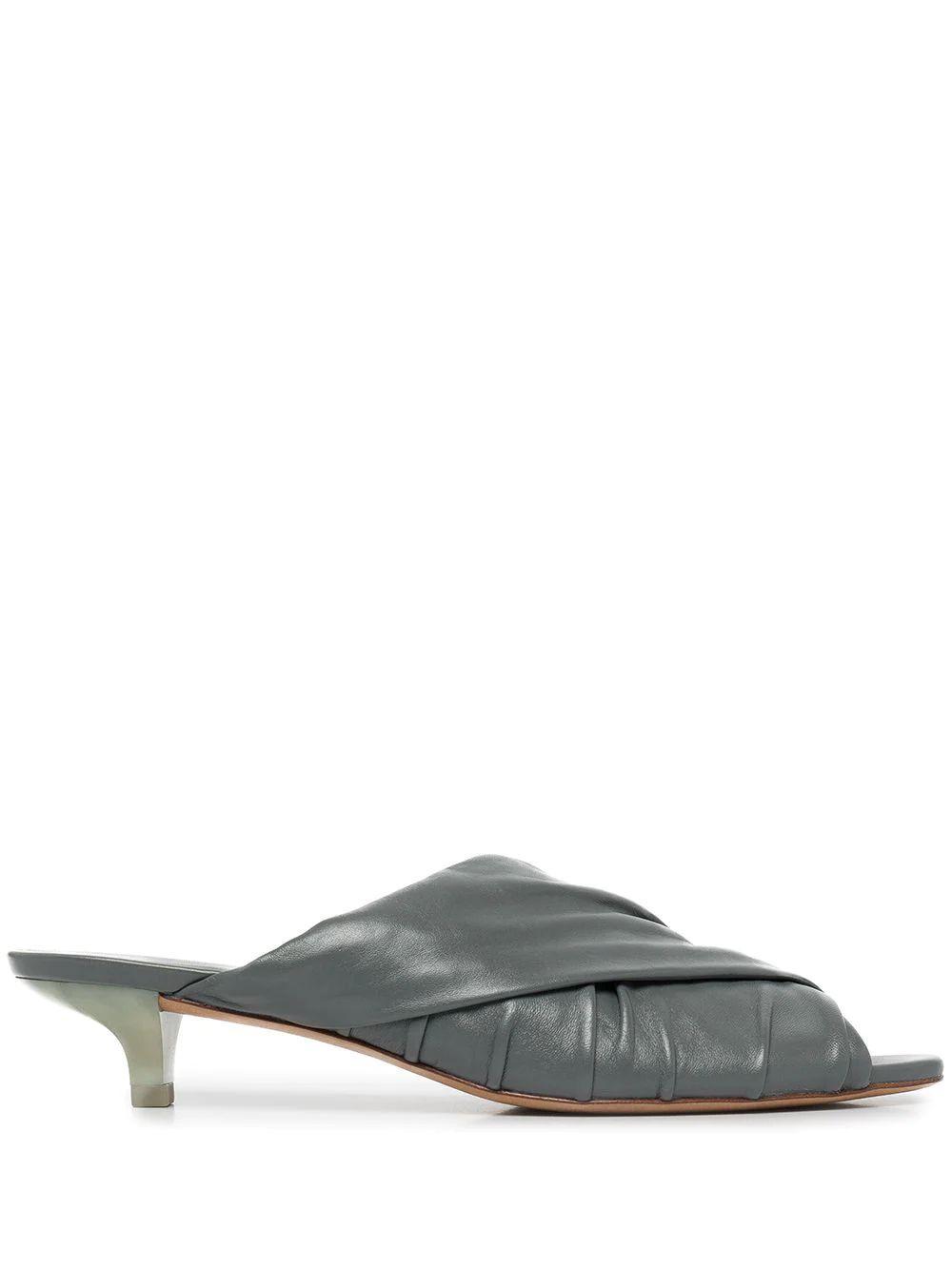 Zoey Suede Shimmer Block Heel Sandal Item # ZOEY