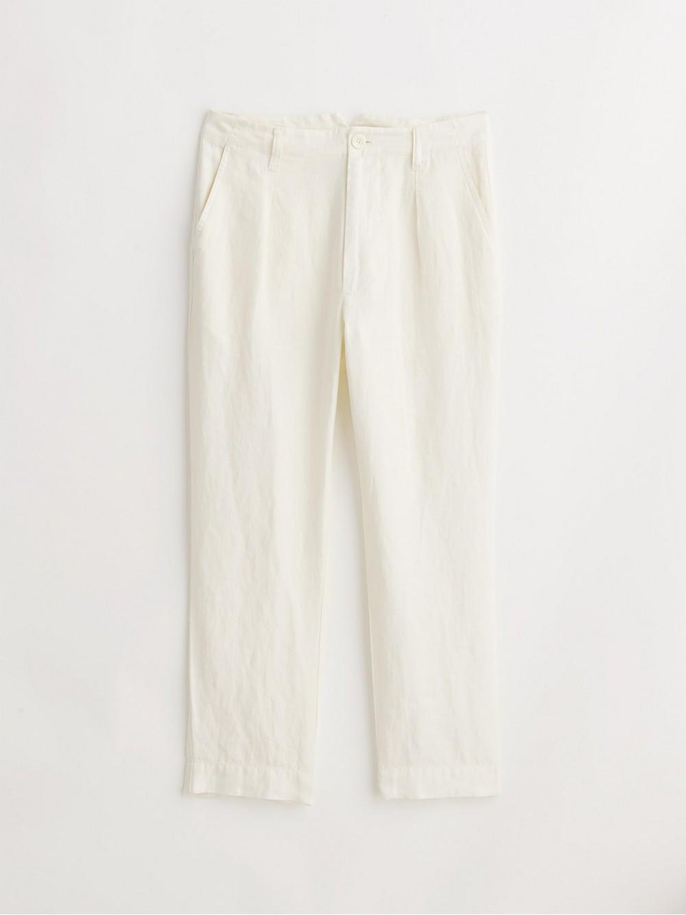 Boy Pleated Pant In Linen Item # WP192393