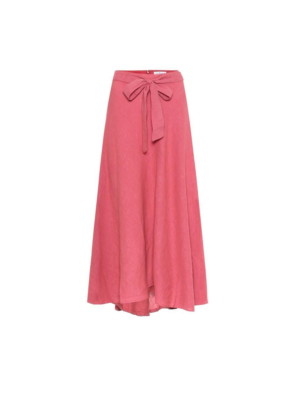 Raleigh Linen Maxi Skirt Item # RALEIGH04