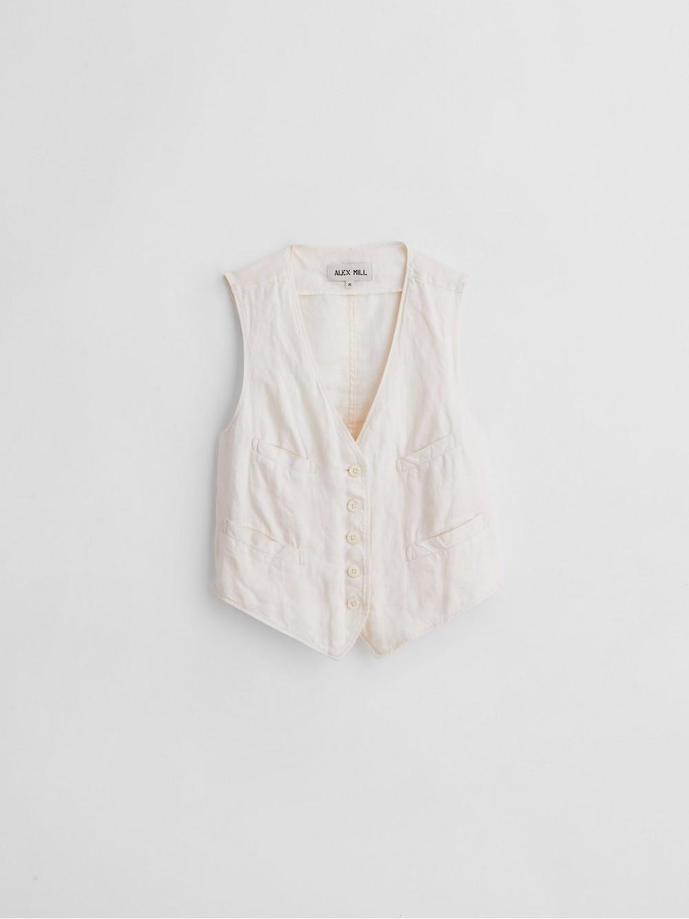 Boy Vest In Linen Item # WJ062393