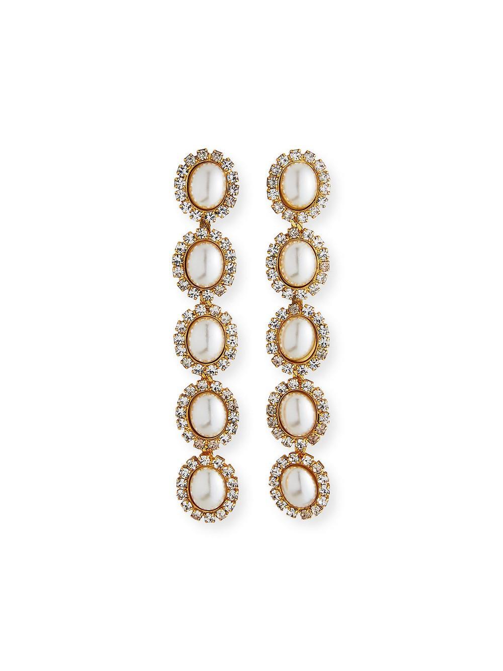 Von Earrings Item # TD18E15-PRL-C