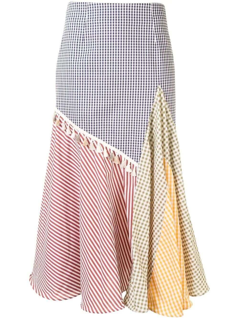 Gingham Midi Skirt Item # MAESTRANZA-SKIRT