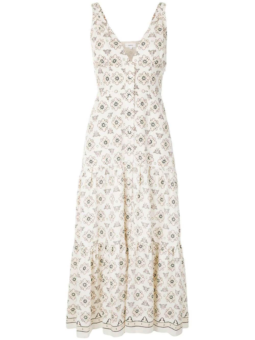 Jolie Printed Maxi Dress