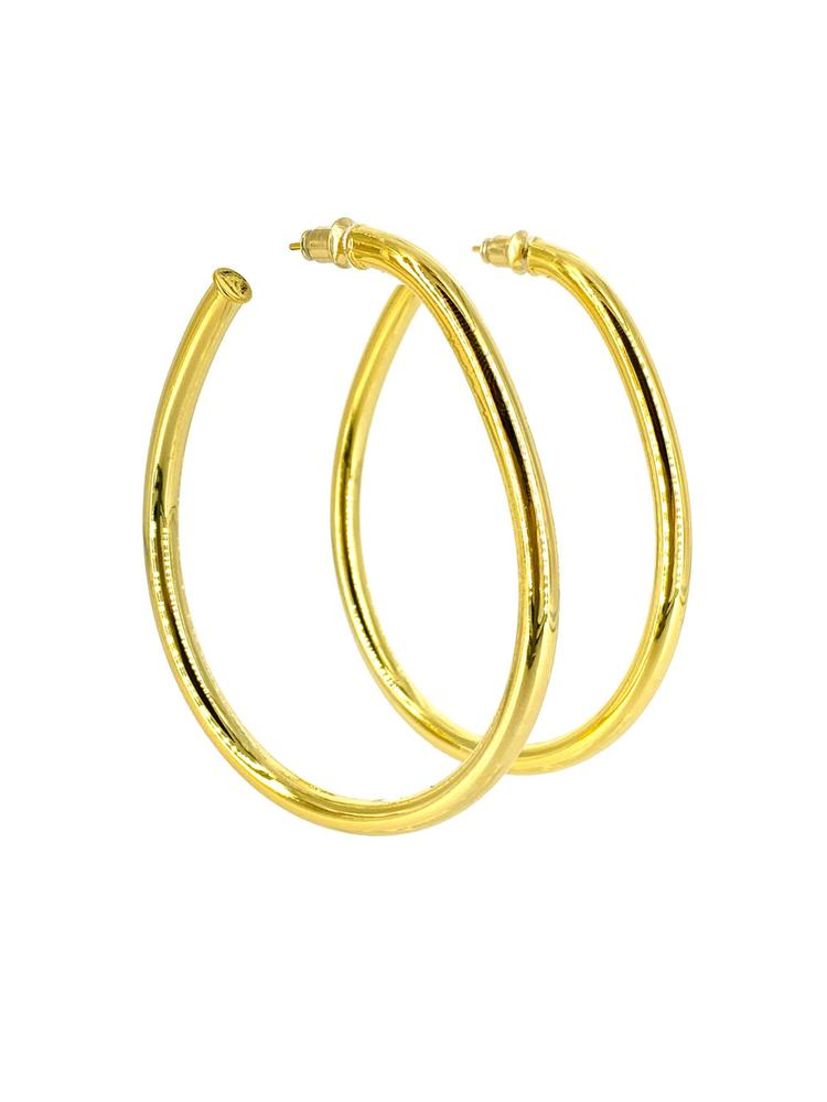 Large Hoop Earrings Item # CLE9105GS