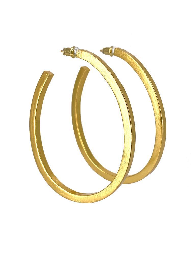 Gold Hoop Earrings Item # CLE9977G