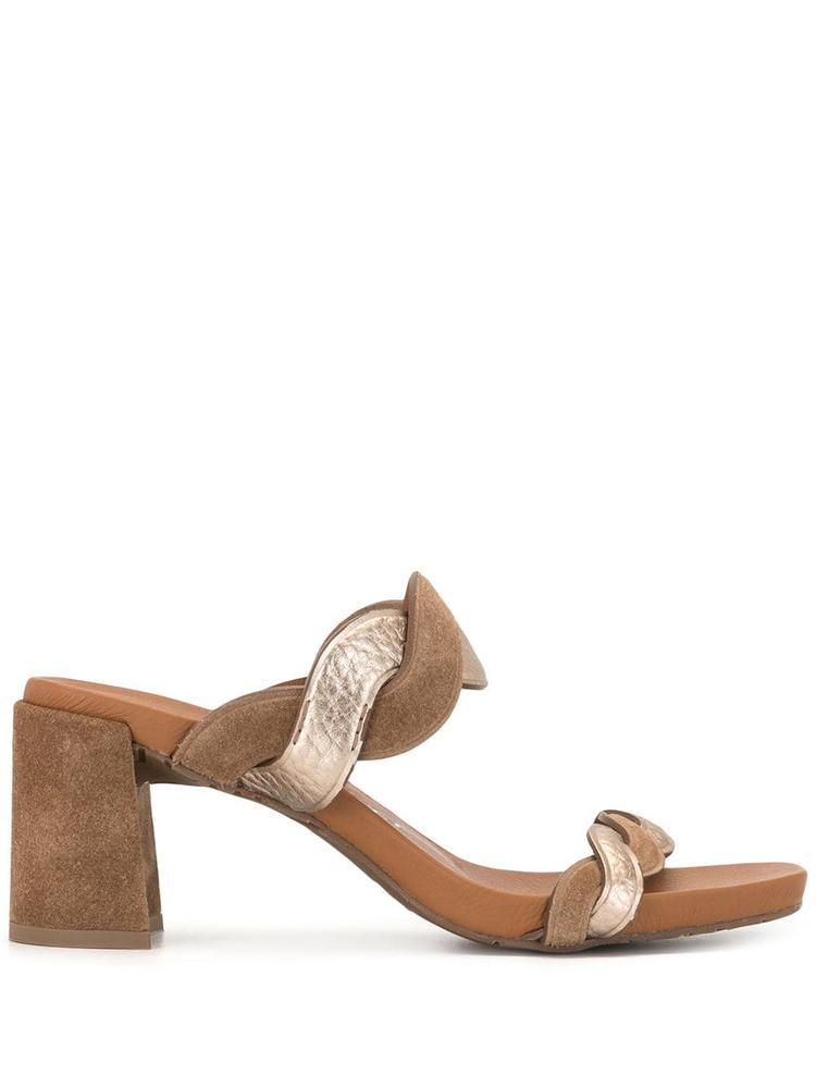 Cait Braided Block Heel Sandal Item # CAIT