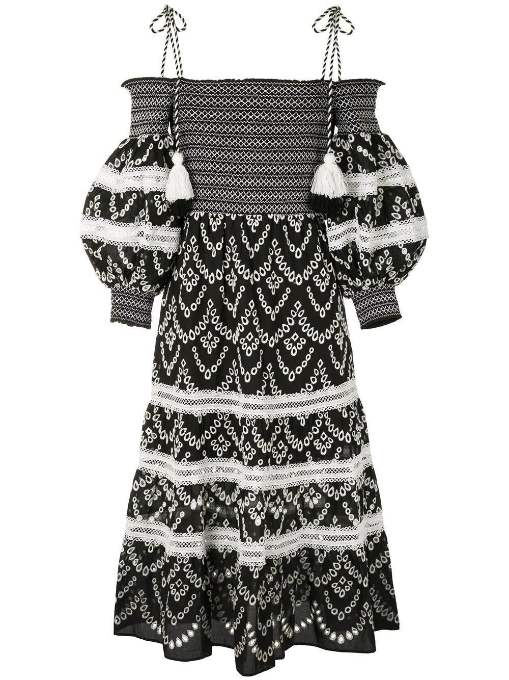 Catia Smocked Midi Dress Item # CC005D60525