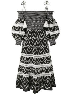 Catia Smocked Midi Dress