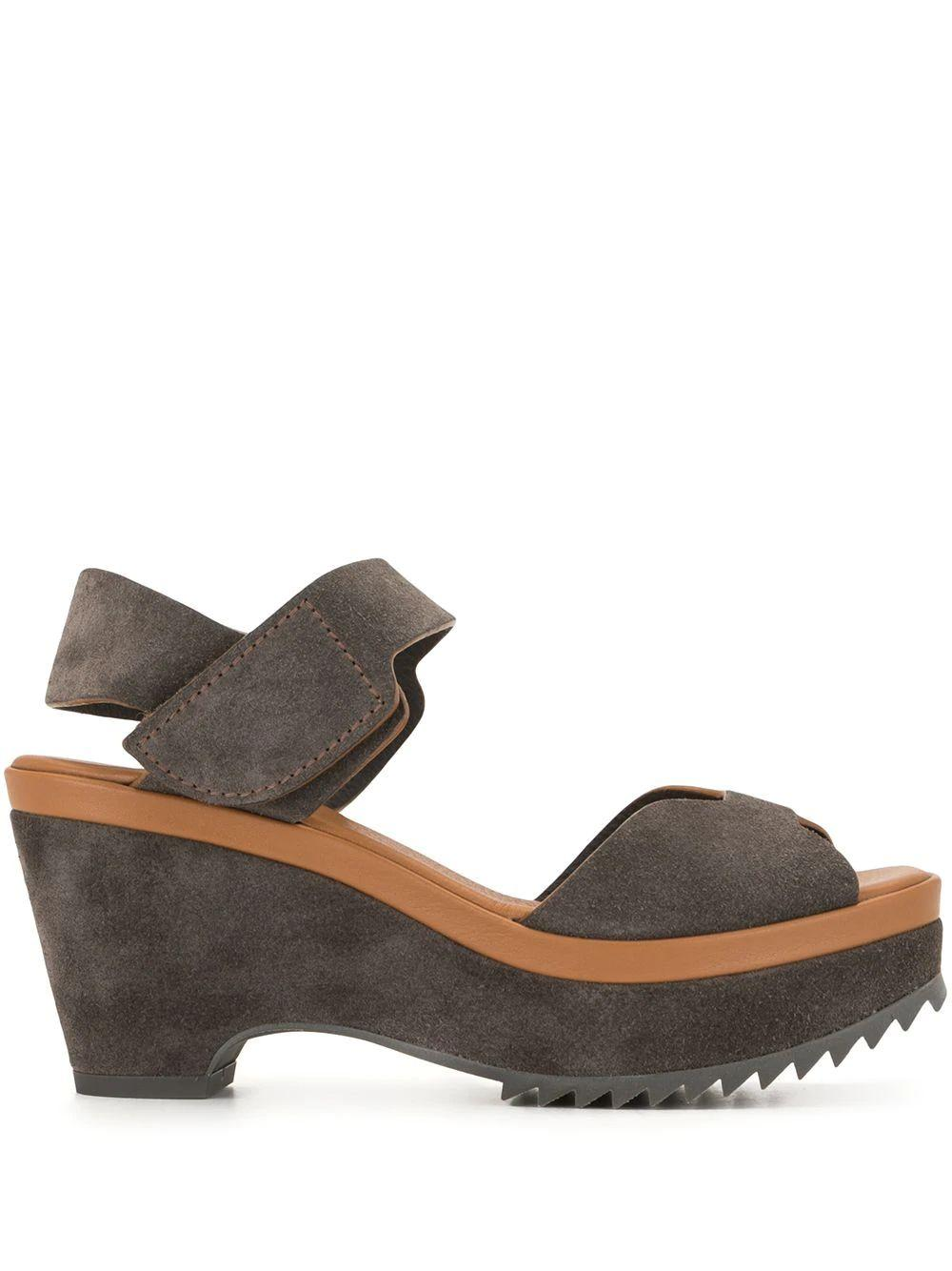 Fah Suede Platform Sandal Item # FAH-INK