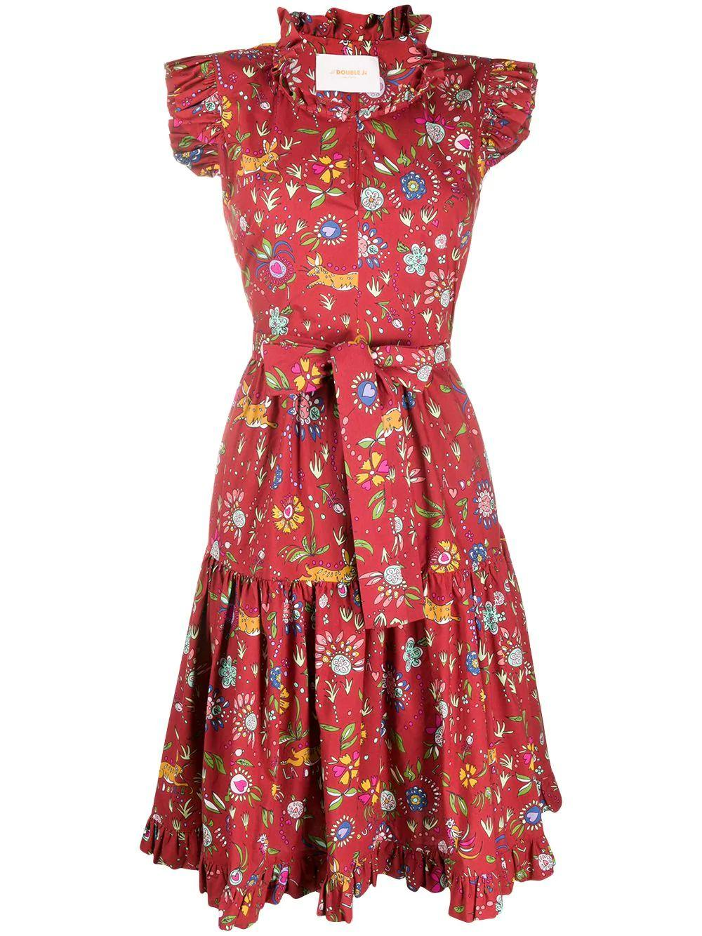 Short And Sassy Floral Dress Item # DRE0003-COT001-PF20