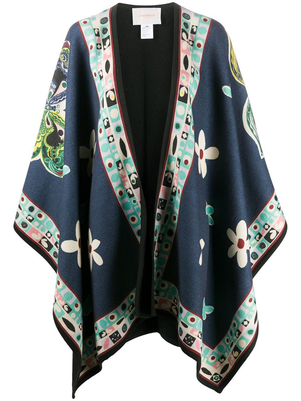 Butterfly Print Poncho