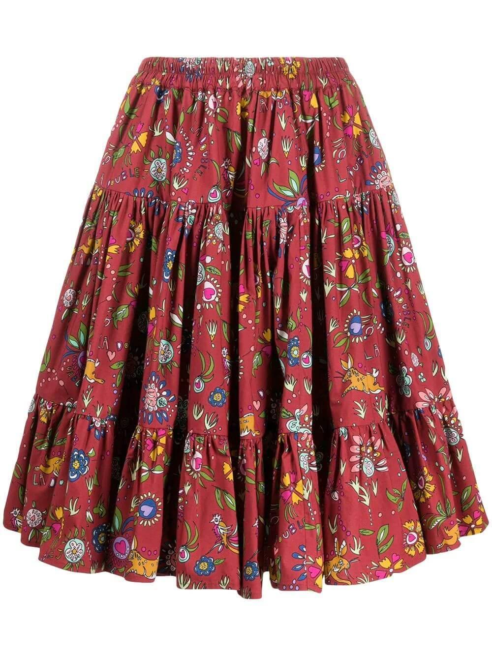 Mini Pleated Love Skirt Item # SKI0038-COT001
