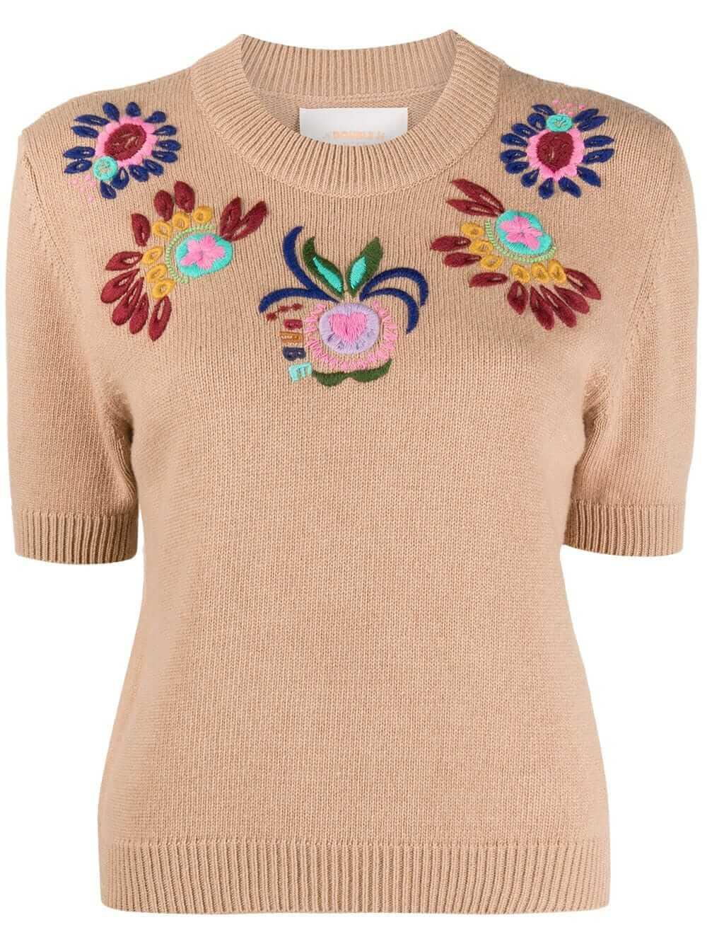 Cropped Embroidered Sweater Item # PUL0035-KNI027