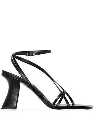 Kersti Black Nappa Leather Heeled Sandal