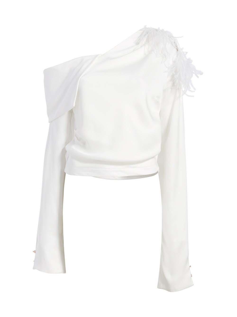Aube Asymmetrical Blouse Item # HP20T271-37