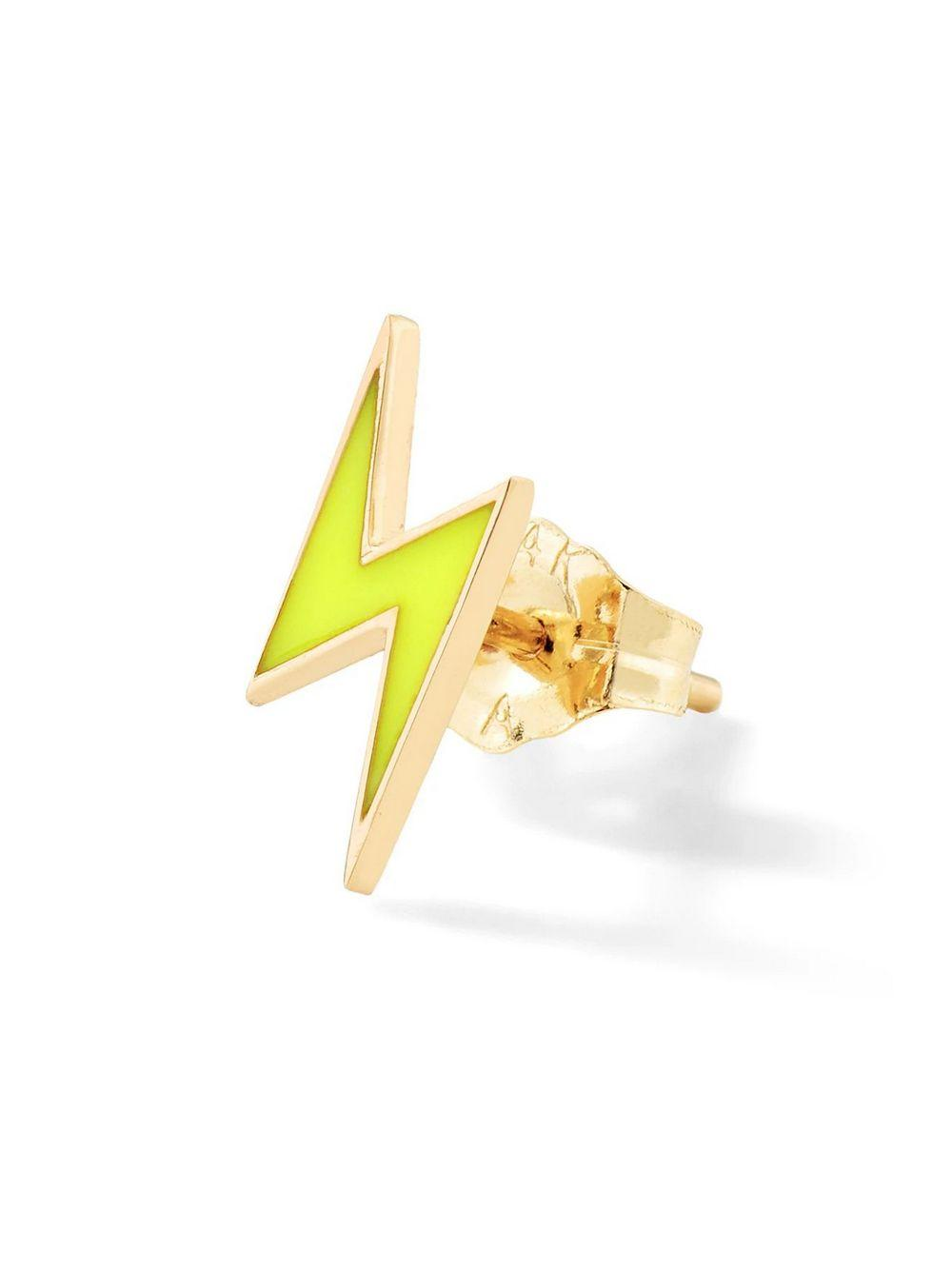 Lightning Bolt Stud Earring