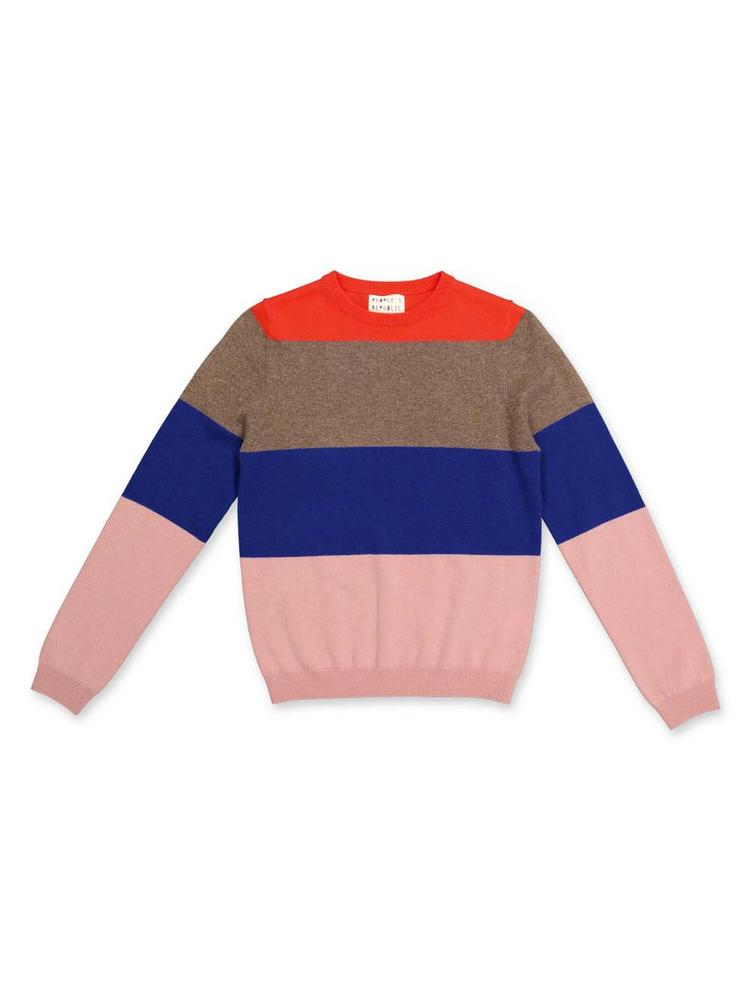Multi Stripe Crew Neck Sweater Item # 3086