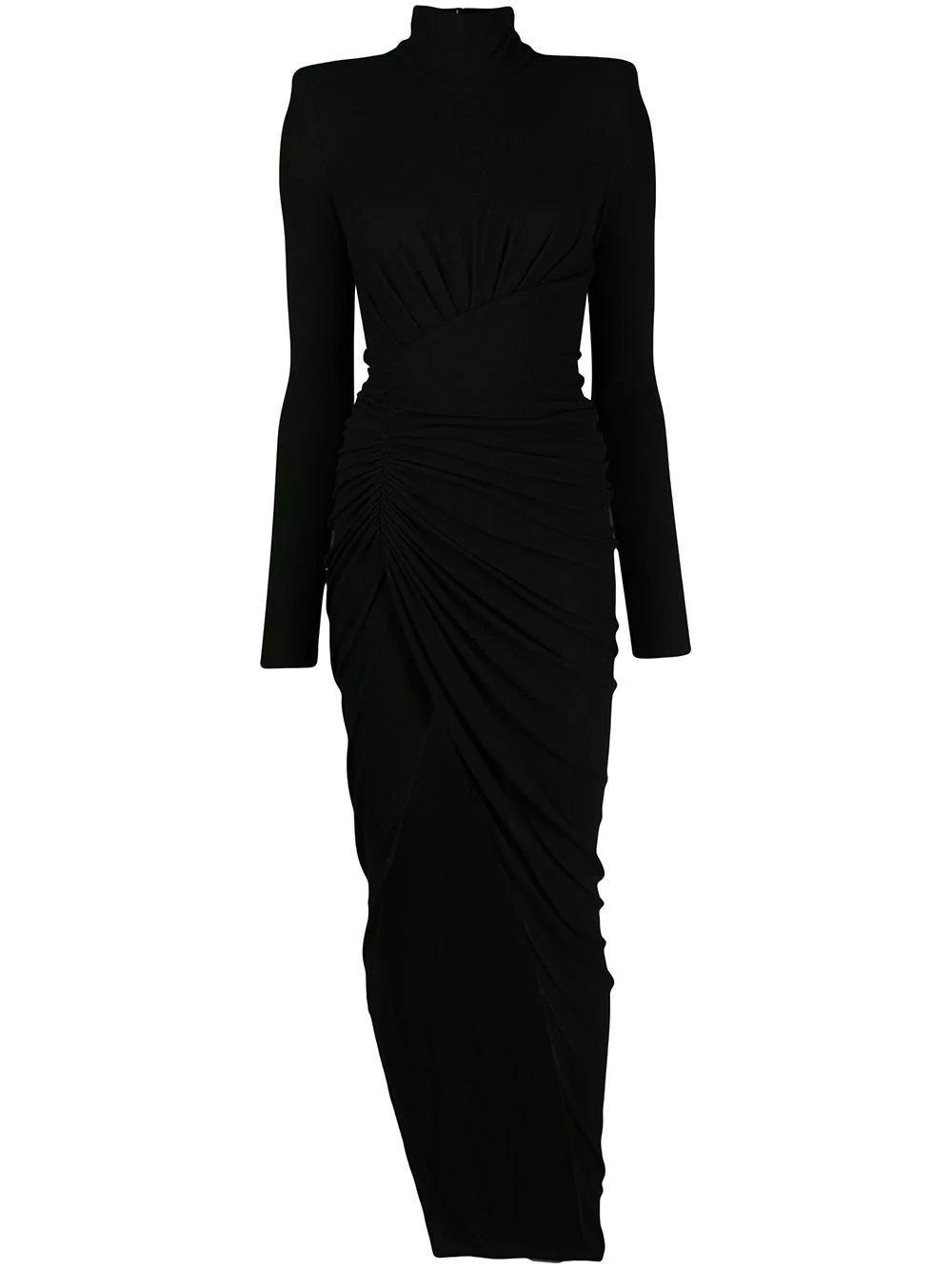 Turtle Neck Long Dress Item # 203DR1318