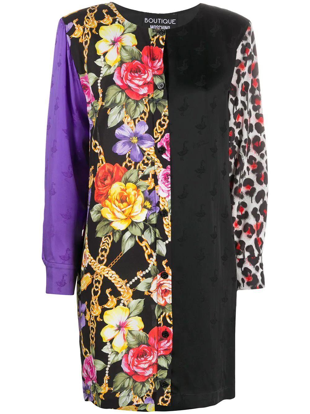 Patchwork Long Sleeve Dress Item # 0447-6152
