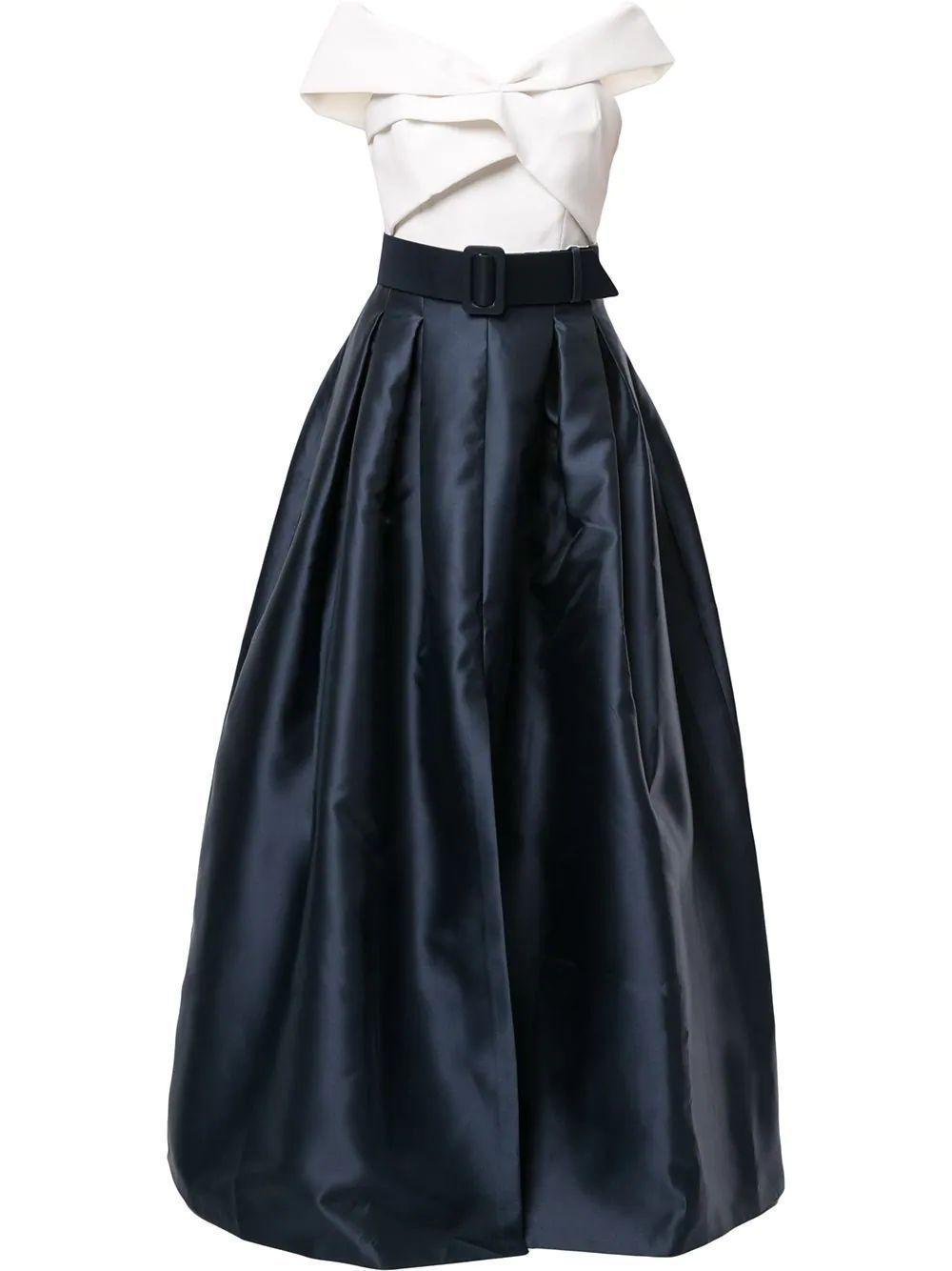 Livi Belted Ballgown Item # T01G11