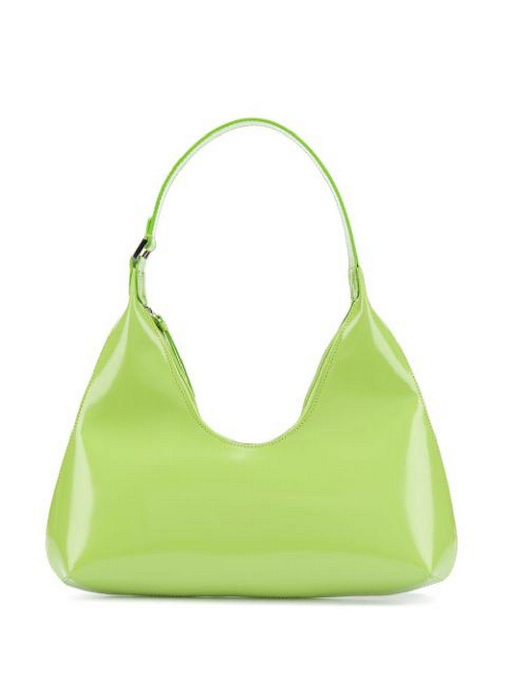 Amber Semi Patent Shoulder Bag Item # 19PFAMRSLMWLAR