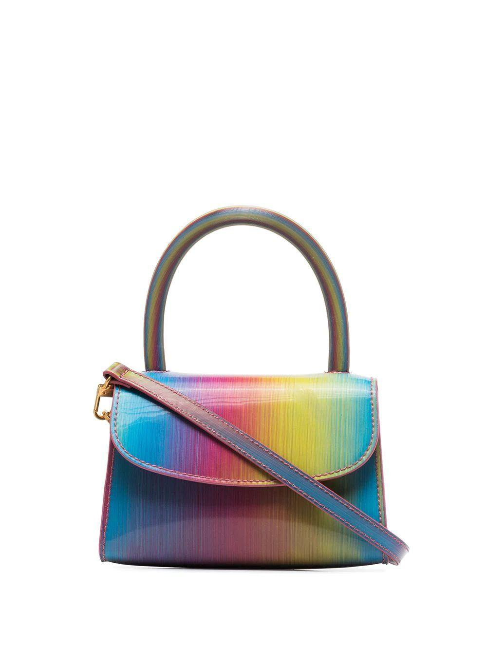 Mini Rainbow Top Handle Bag