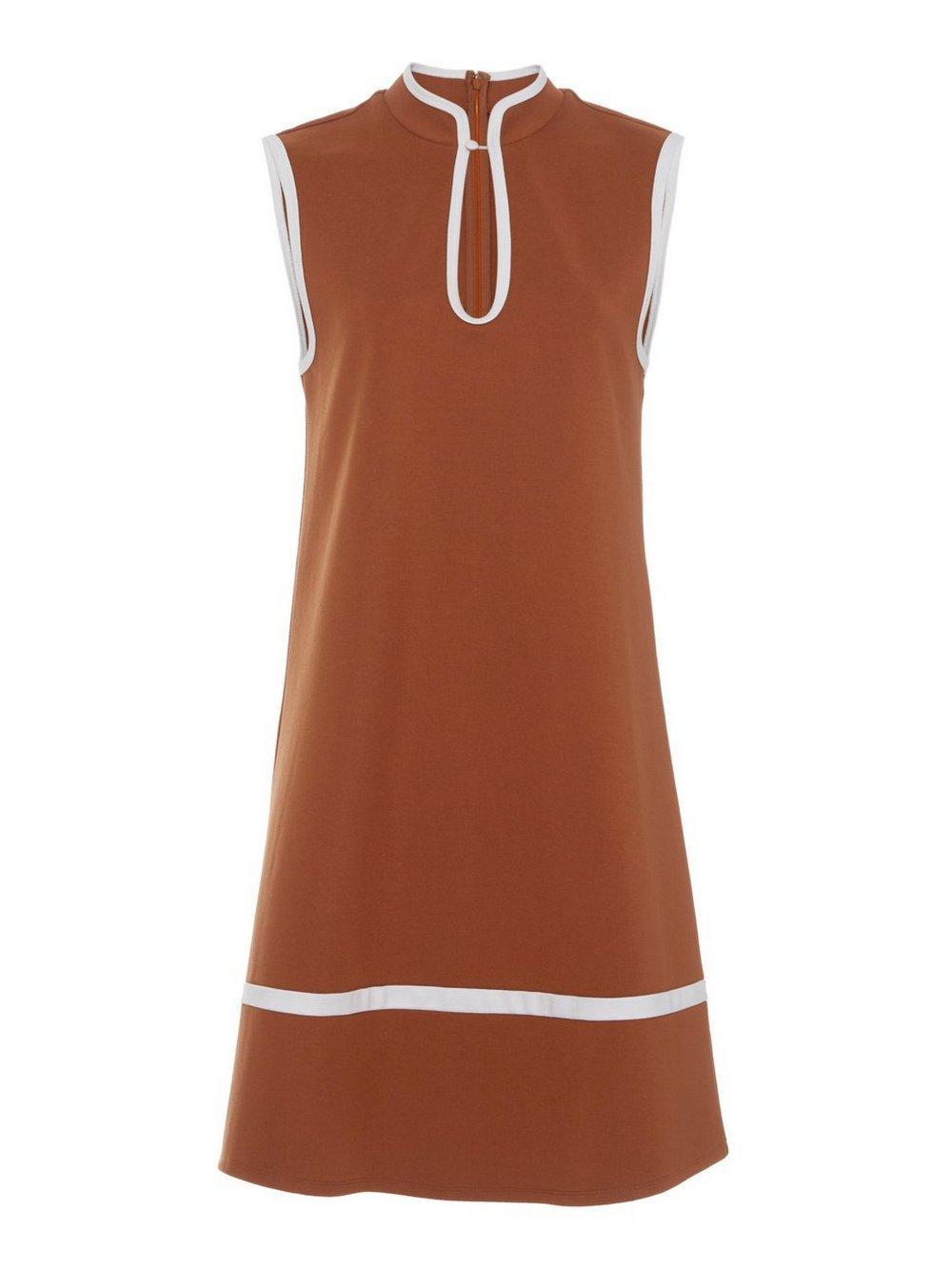 Thea Ponte Sleeveless Dress Item # 46-7342-TAN