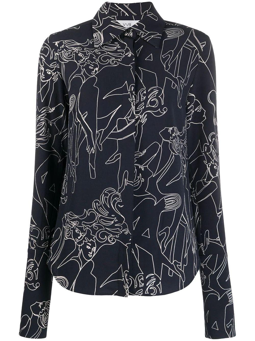 Slim Fit Printed Blouse